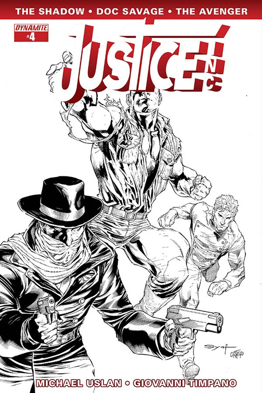 Justice Inc Vol 3 #4 Cover F Incentive Ardian Syaf Black & White Cover
