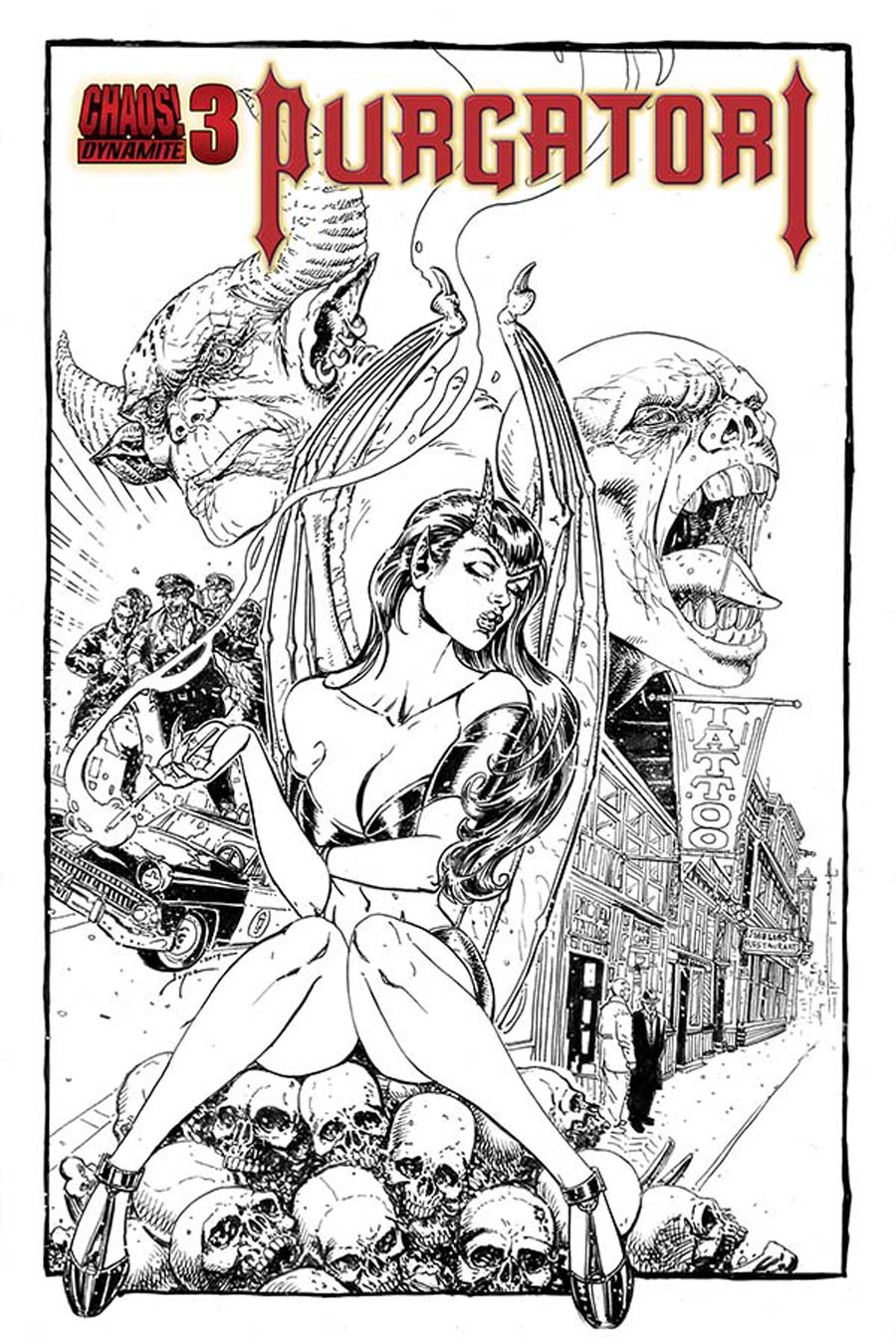Purgatori Vol 3 #3 Cover E Incentive Joyce Chin Black & White Cover