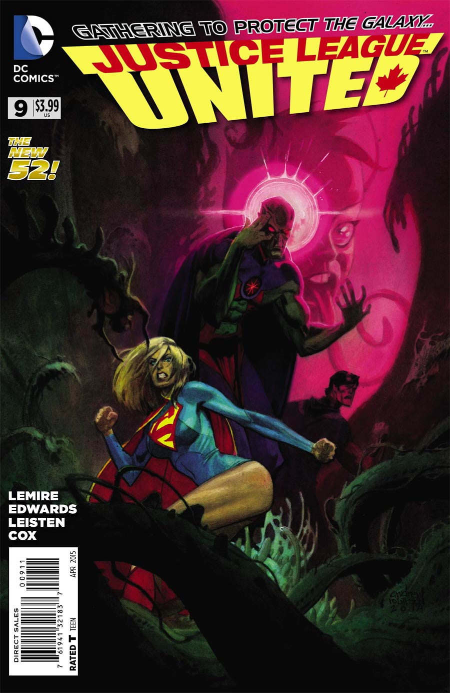 Justice League United #9 Cover A Regular Andrew Robinson Cover