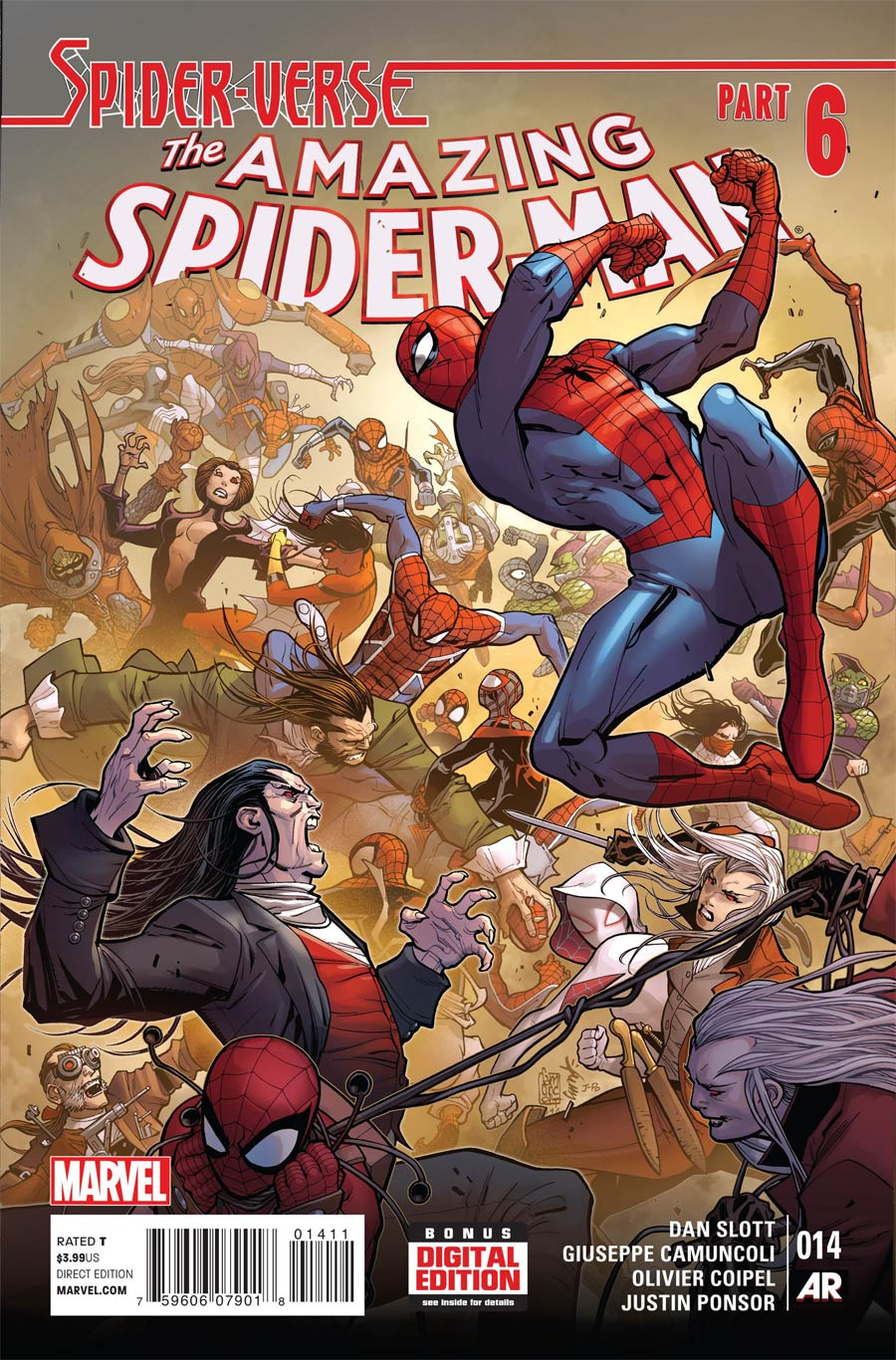 Amazing Spider-Man Vol 3 #14 Cover A Regular Giuseppe Camuncoli Cover (Spider-Verse Tie-In)
