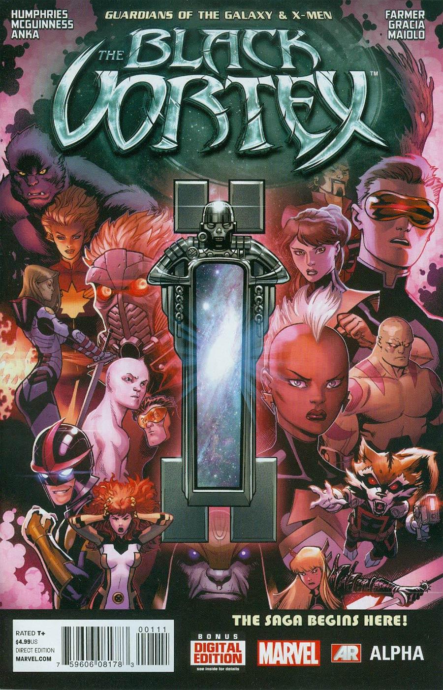Guardians Of The Galaxy & X-Men Black Vortex Alpha #1 Cover A 1st Ptg Regular Ed McGuinness Cover (Black Vortex Part 1)