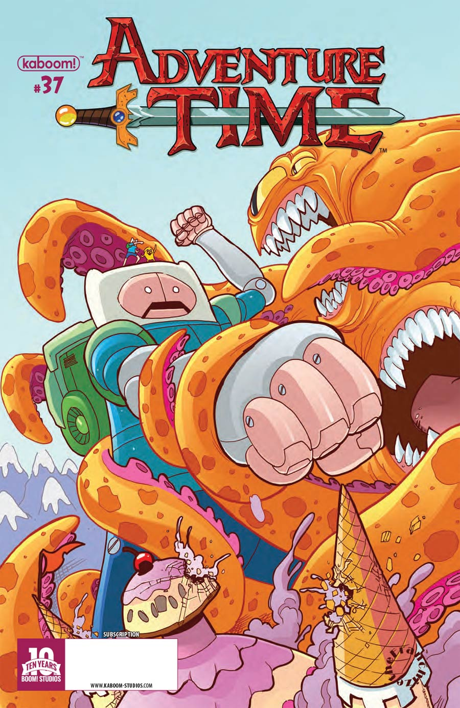 Adventure Time #37 Cover B Variant Jerry Gaylord Subscription Cover