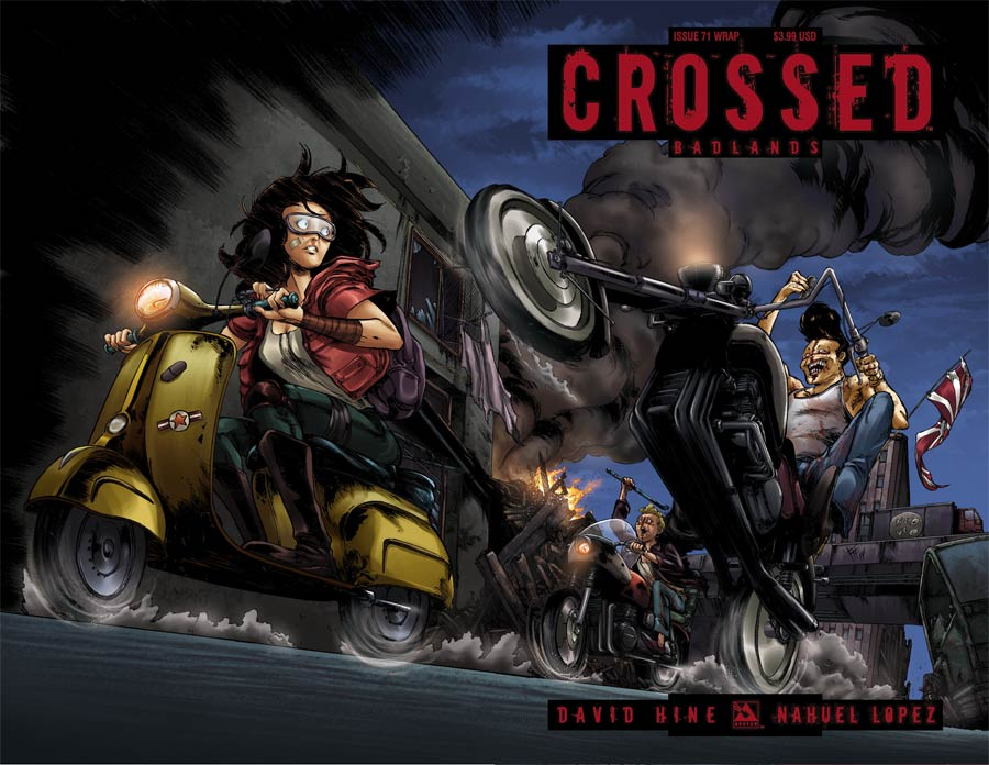 Crossed Badlands #71 Cover B Wraparound Cover