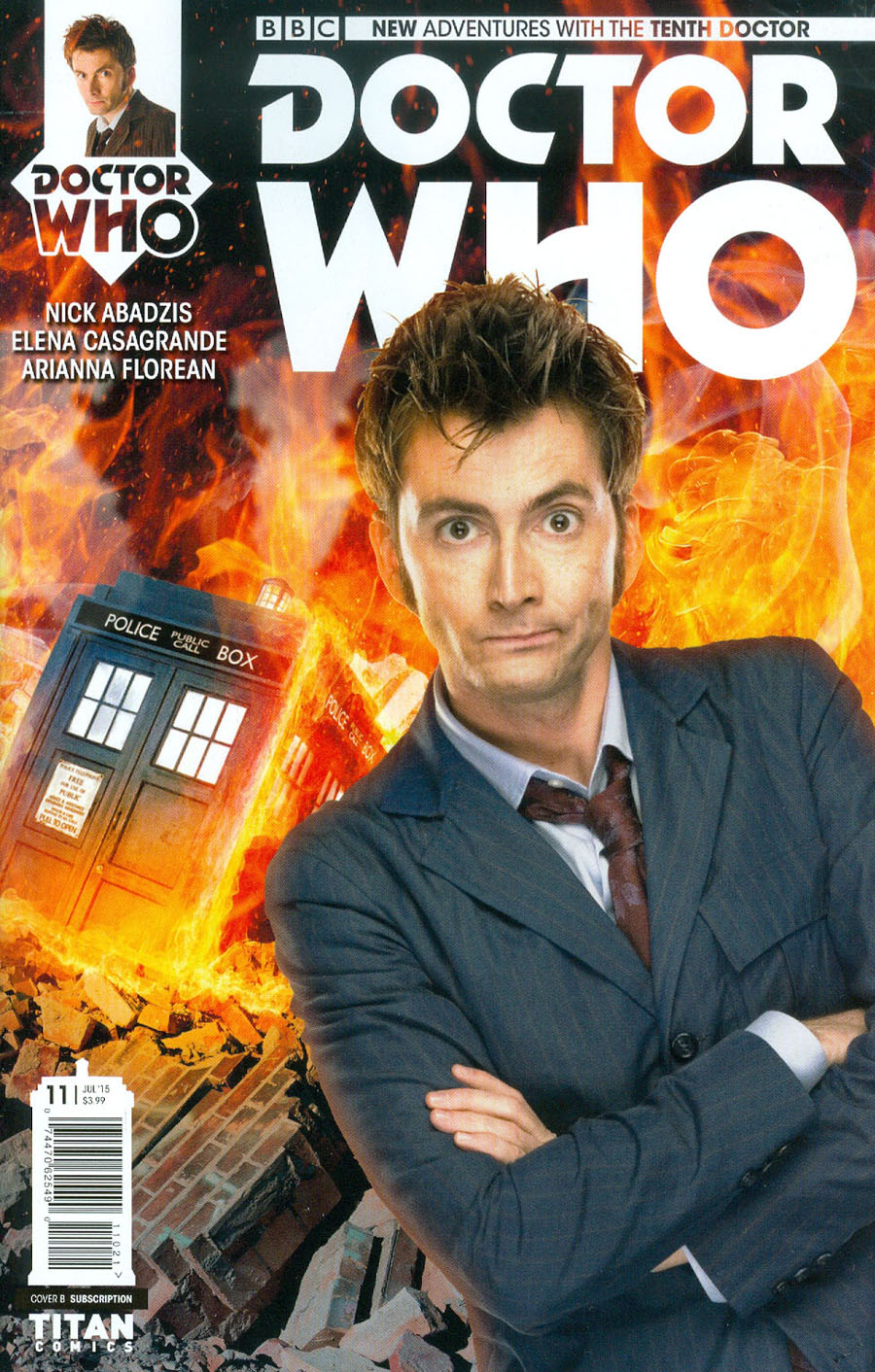 Doctor Who 10th Doctor #11 Cover B Variant Photo Subscription Cover