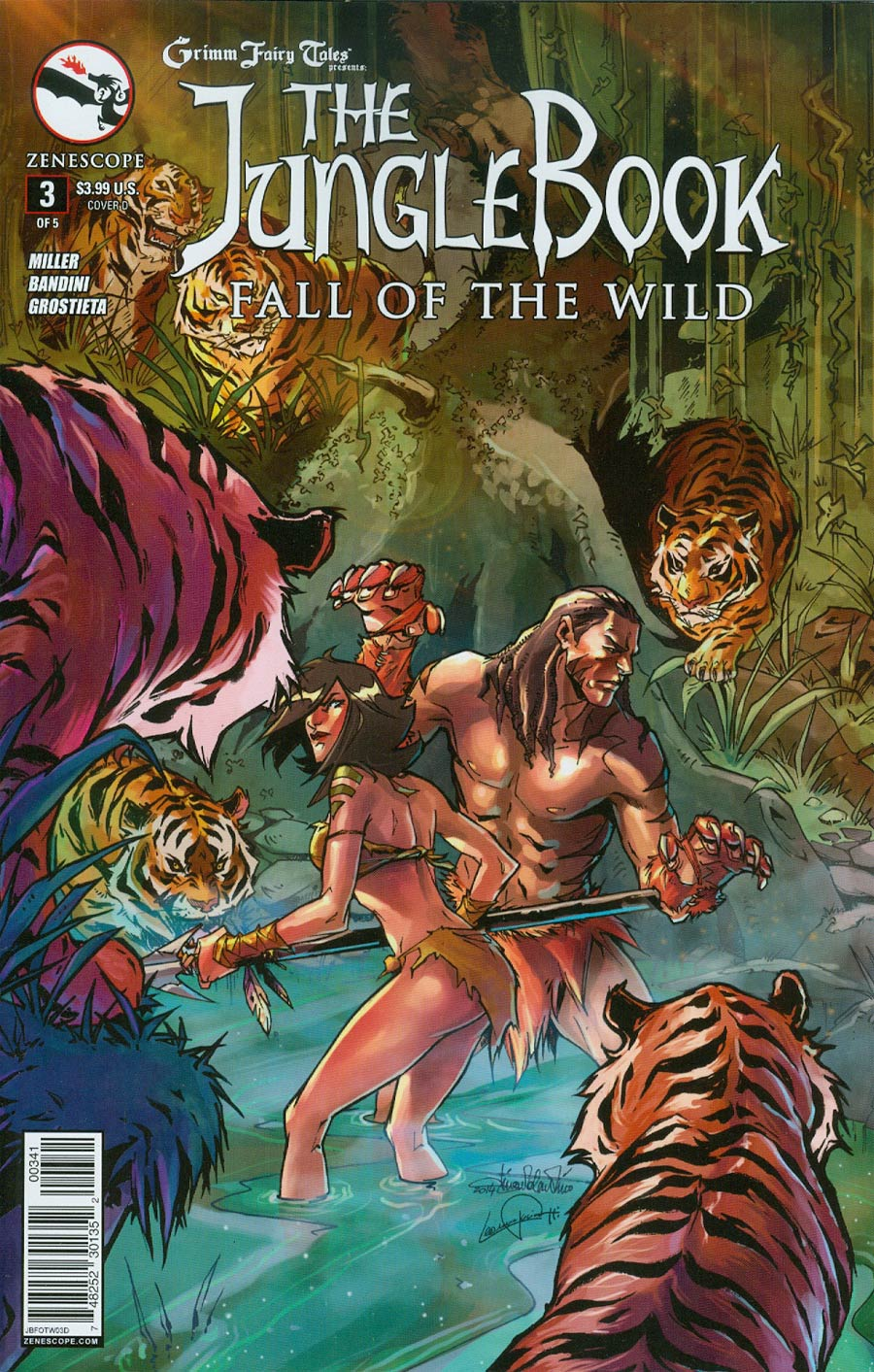 Grimm Fairy Tales Presents Jungle Book Fall Of The Wild #3 Cover D Tina Valentino