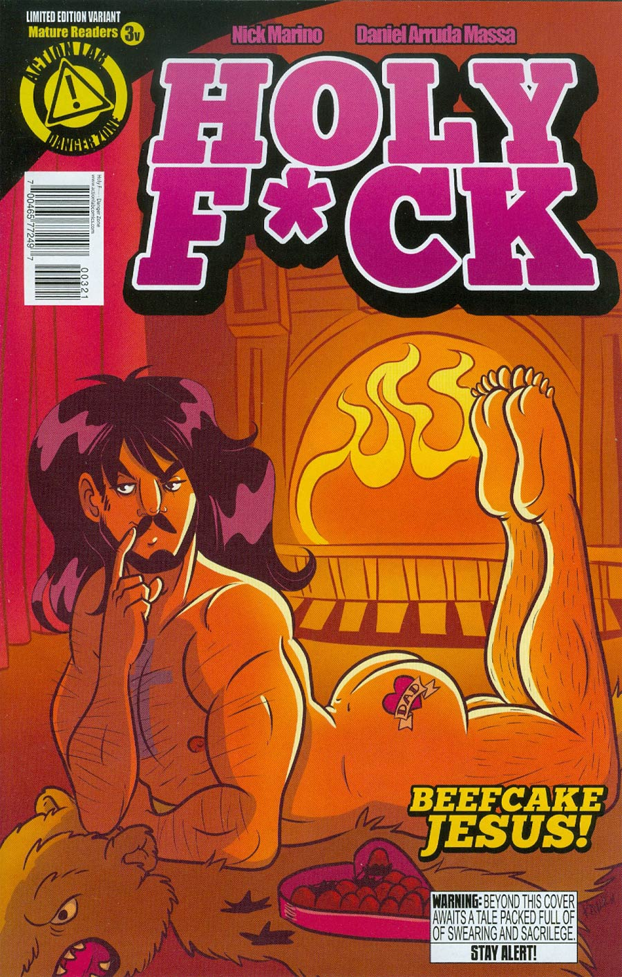 Holy F*ck #3 Cover B Variant Jesus Cover