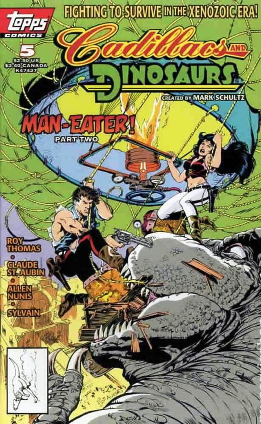 Cadillacs And Dinosaurs Vol 2 #5 Newsstand Edition