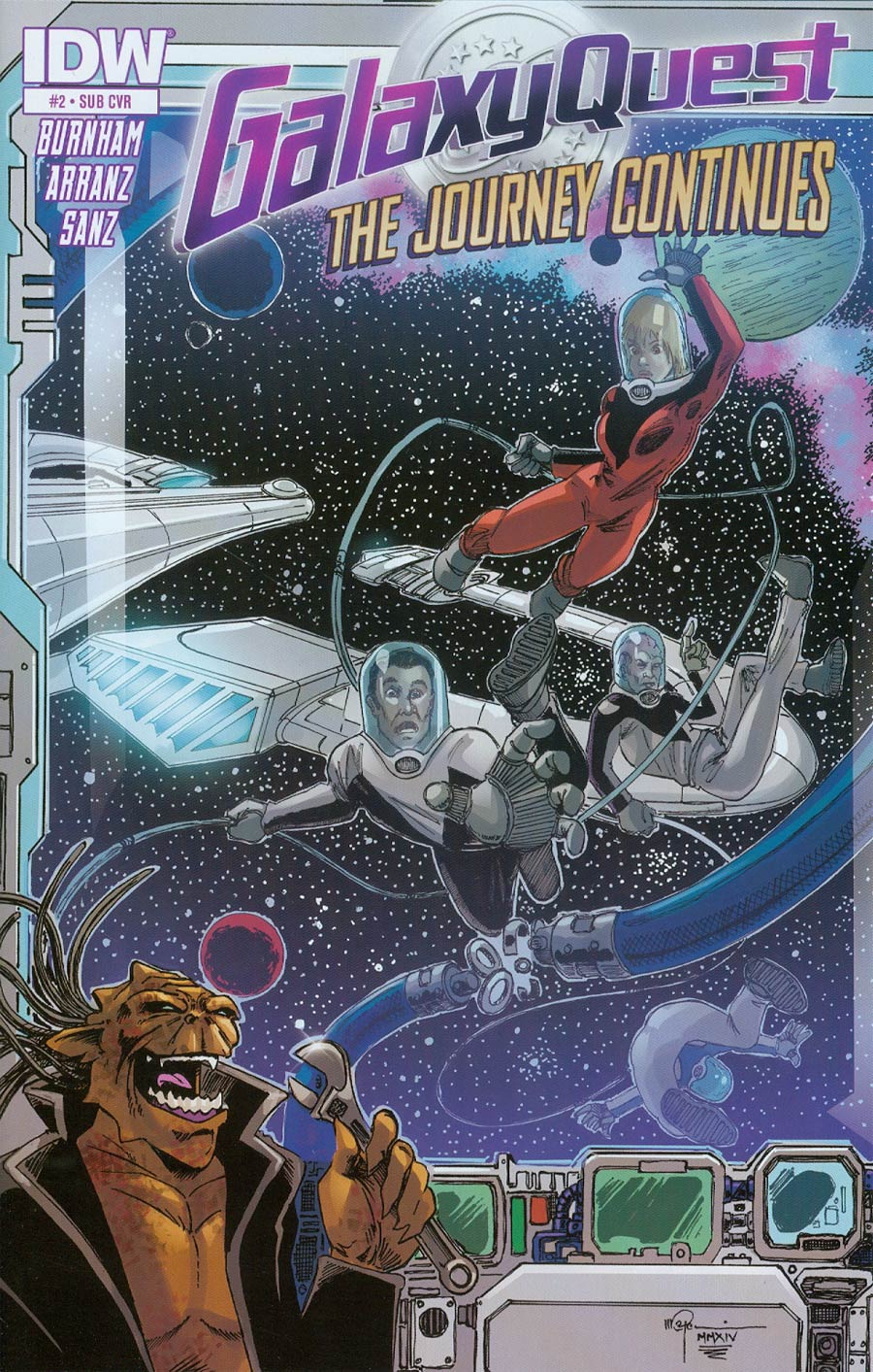 Galaxy Quest Journey Continues #2 Cover B Variant Mal Gardiner Subscription Cover