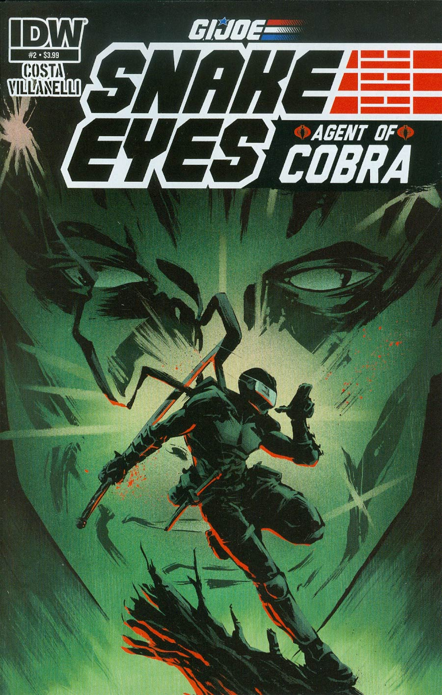 GI Joe Snake Eyes Agent Of Cobra #2 Cover A Regular Paolo Villanelli Cover