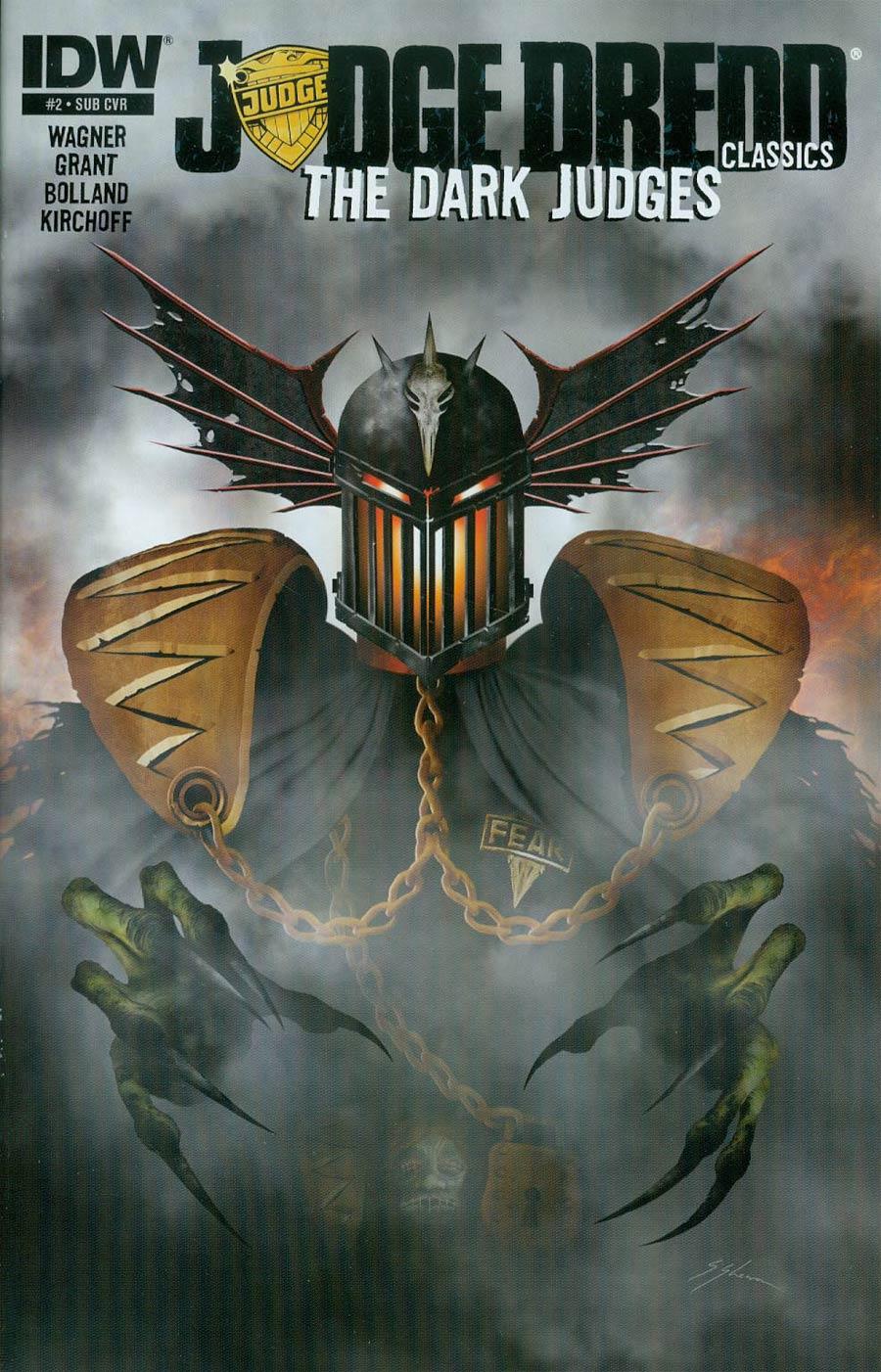 Judge Dredd Classics Dark Judges #2 Cover B Variant Sam Mister-Sam Shearon Subscription Cover
