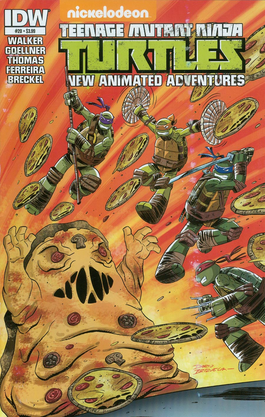 Teenage Mutant Ninja Turtles New Animated Adventures #20 Cover A Regular Dario Brizuela Cover