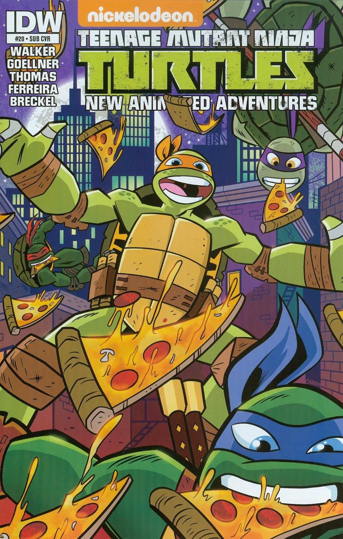 Teenage Mutant Ninja Turtles New Animated Adventures #20 Cover B Variant Derek Charm Subscription Cover