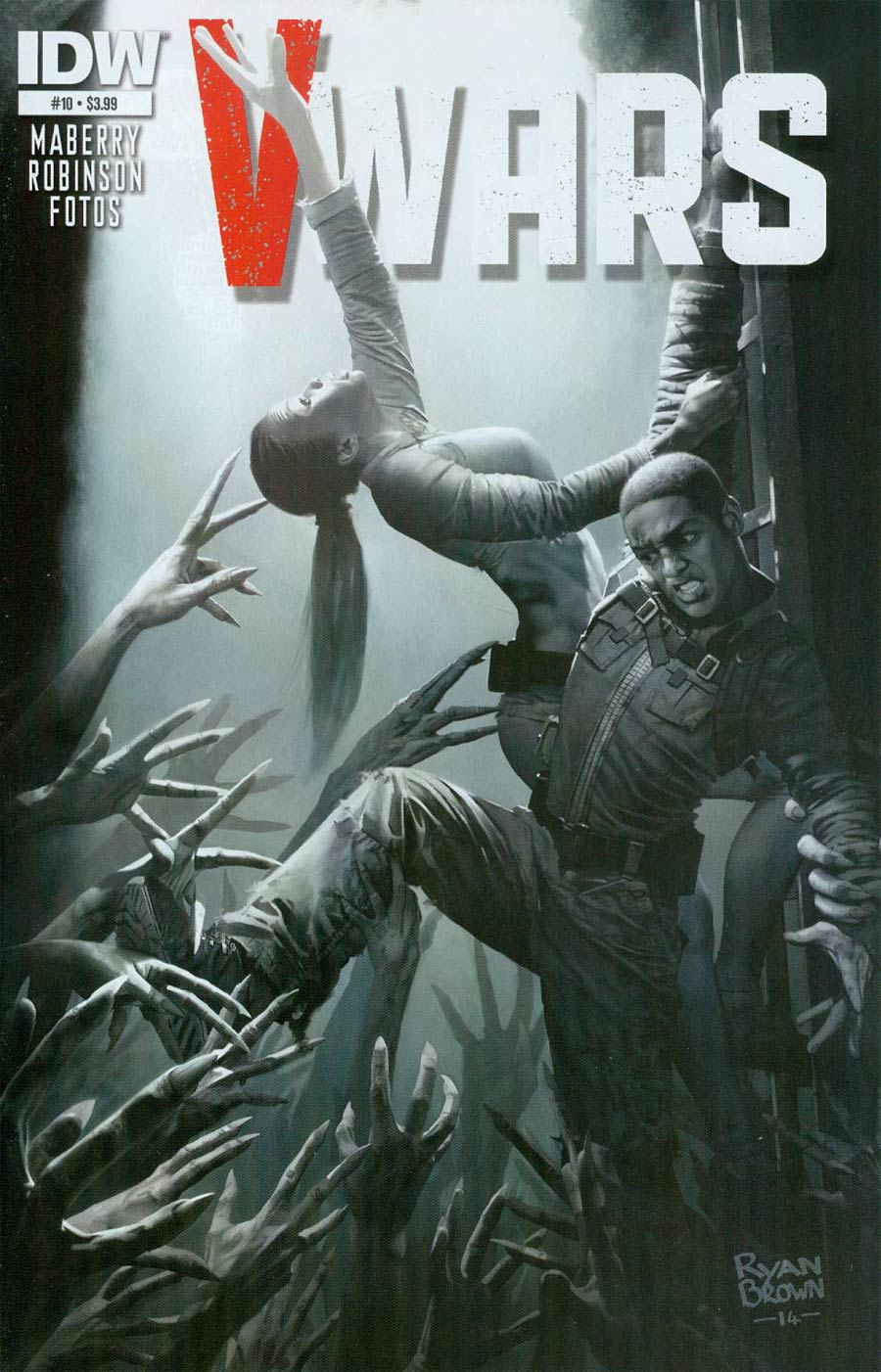 V-Wars #10 Cover A Regular Ryan Brown Cover