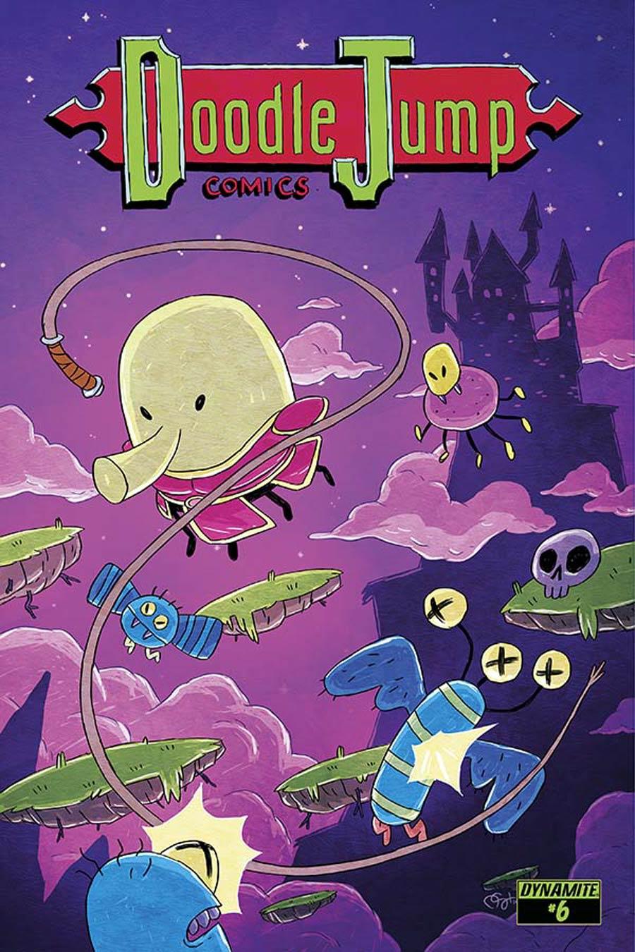 Doodle Jump #6 Cover B Variant Derek Hunter Video Game Homage Cover