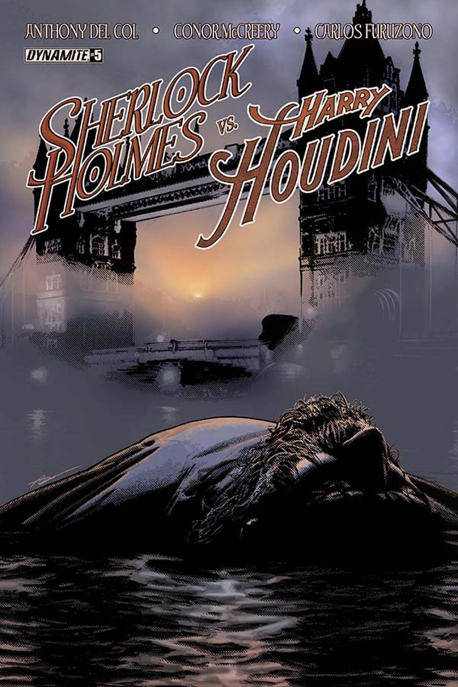 Sherlock Holmes vs Harry Houdini #5 Cover A Regular Aaron Campbell Cover