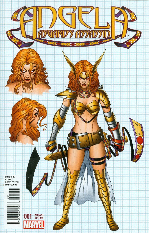 Angela Asgards Assassin #1 Cover D Incentive Joe Quesada Design Variant Cover
