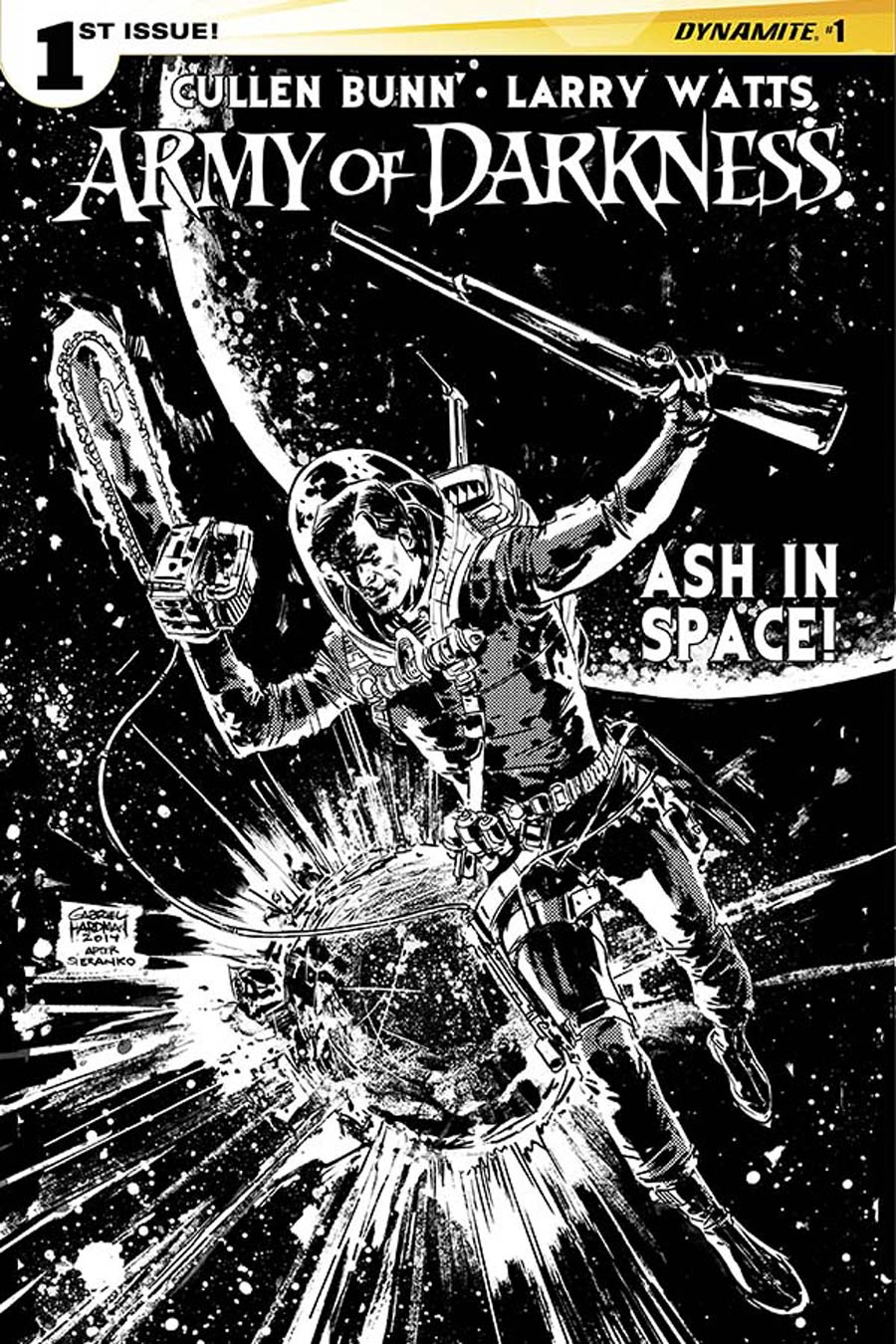 Army Of Darkness Vol 4 #1 Cover G Incentive Gabriel Hardman Black & White Cover