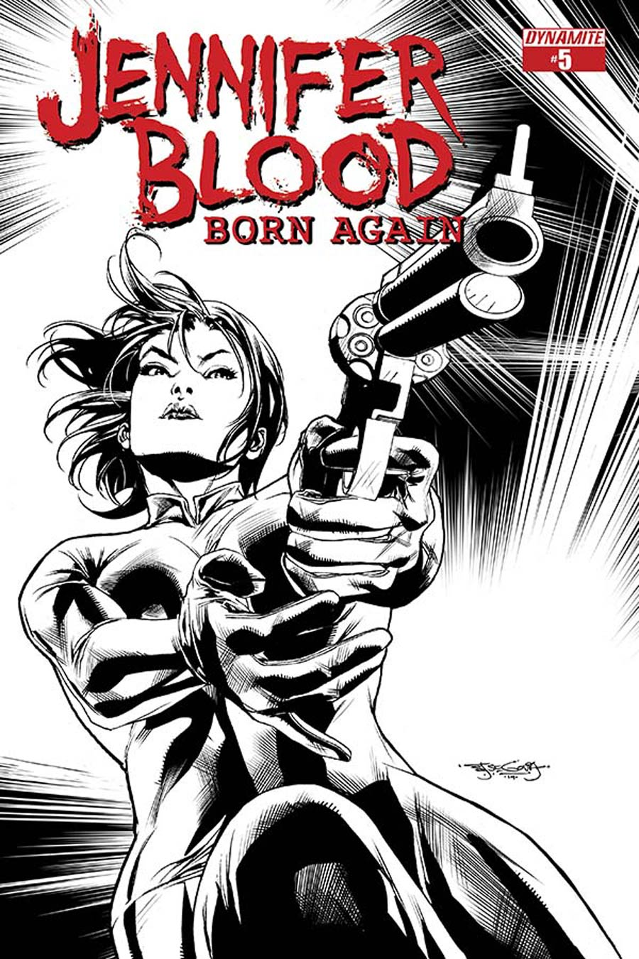 Jennifer Blood Born Again #5 Cover B Incentive Stephen Segovia Black & White Cover