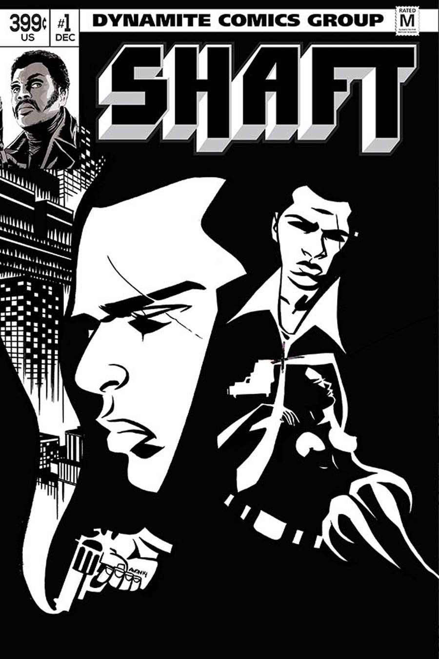 Shaft #1 Cover J Incentive Michael Avon Oeming Black & White Cover
