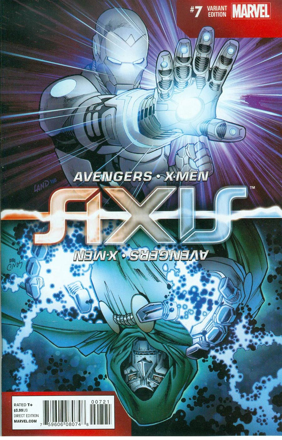 Avengers & X-Men AXIS #7 Cover C Incentive Greg Land Inversion Variant Cover