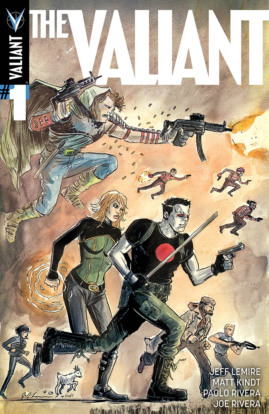 The Valiant #1 Cover D Incentive Jeff Lemire & Matt Kindt Interlocking Variant Cover
