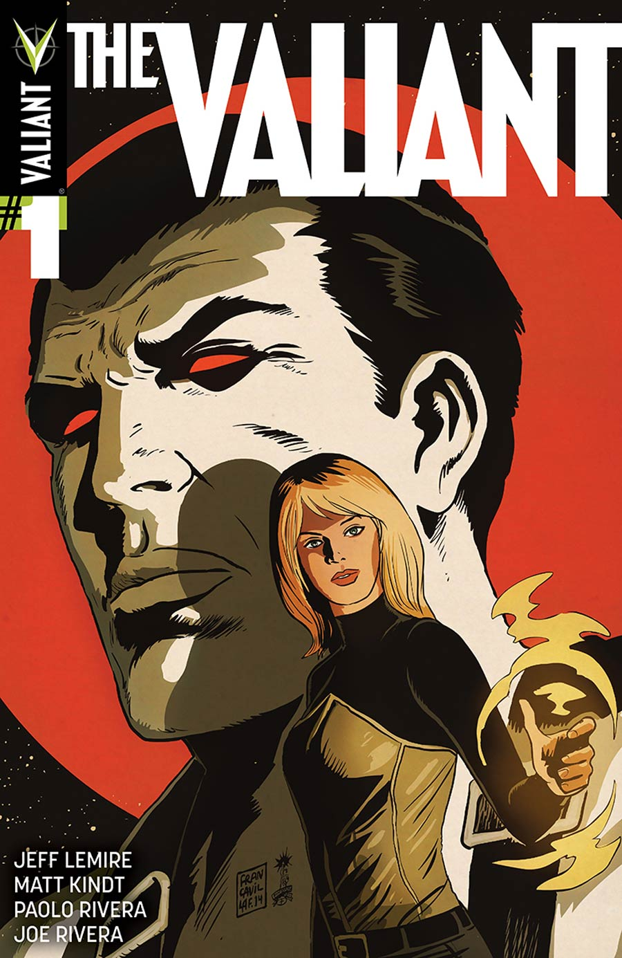 The Valiant #1 Cover E Incentive Francesco Francavilla Variant Cover
