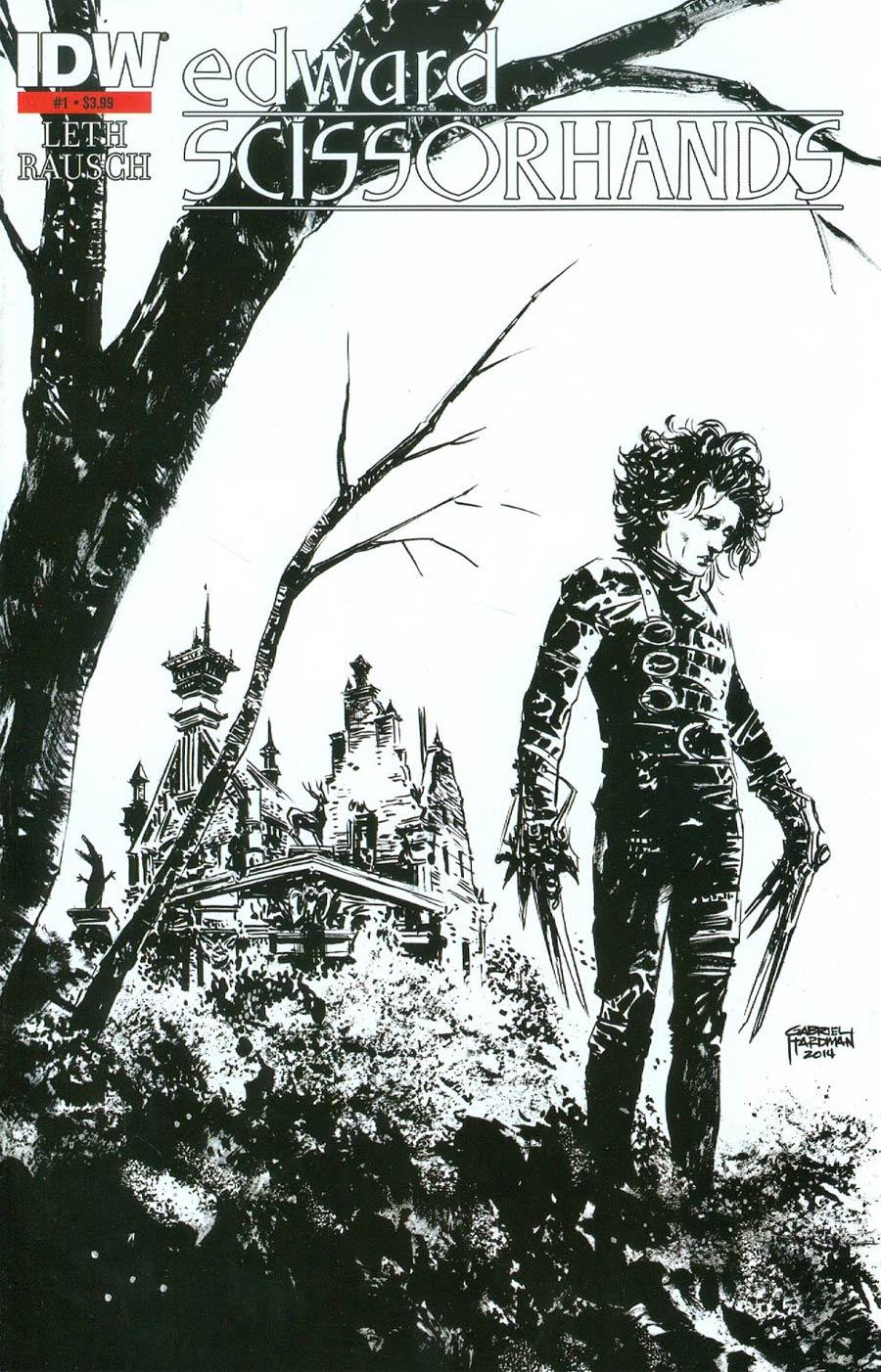 Edward Scissorhands #1 Cover D 2nd Ptg Gabriel Hardman Variant Cover