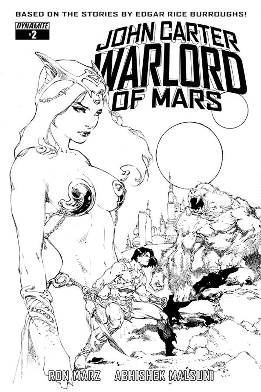 John Carter Warlord Of Mars Vol 2 #2 Cover F Incentive Ed Benes Black & White Cover