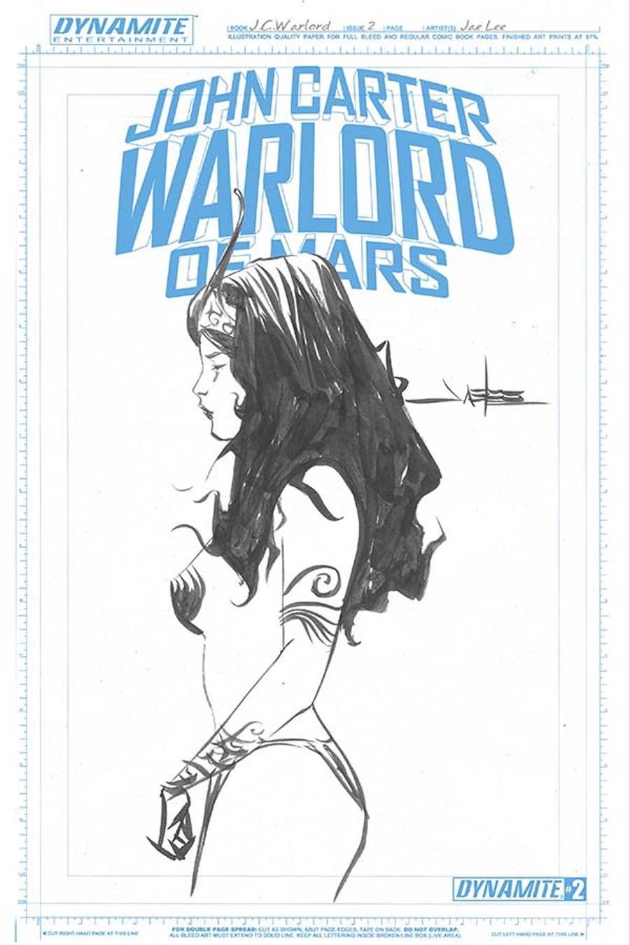 John Carter Warlord Of Mars Vol 2 #2 Cover G Incentive Jae Lee Art Board Variant Cover
