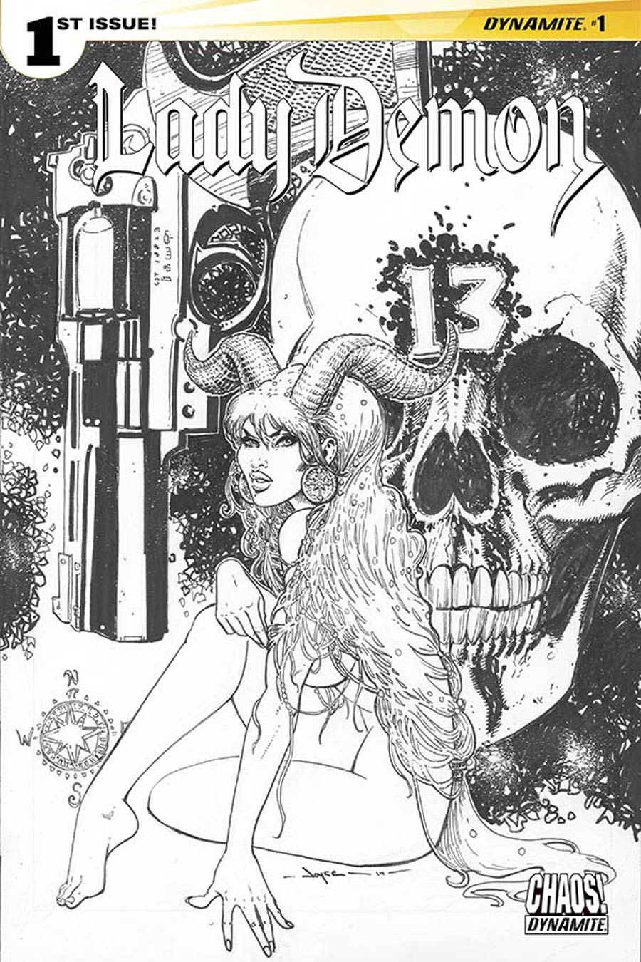 Lady Demon Vol 2 #1 Cover G Incentive Joyce Chin Black & White Cover
