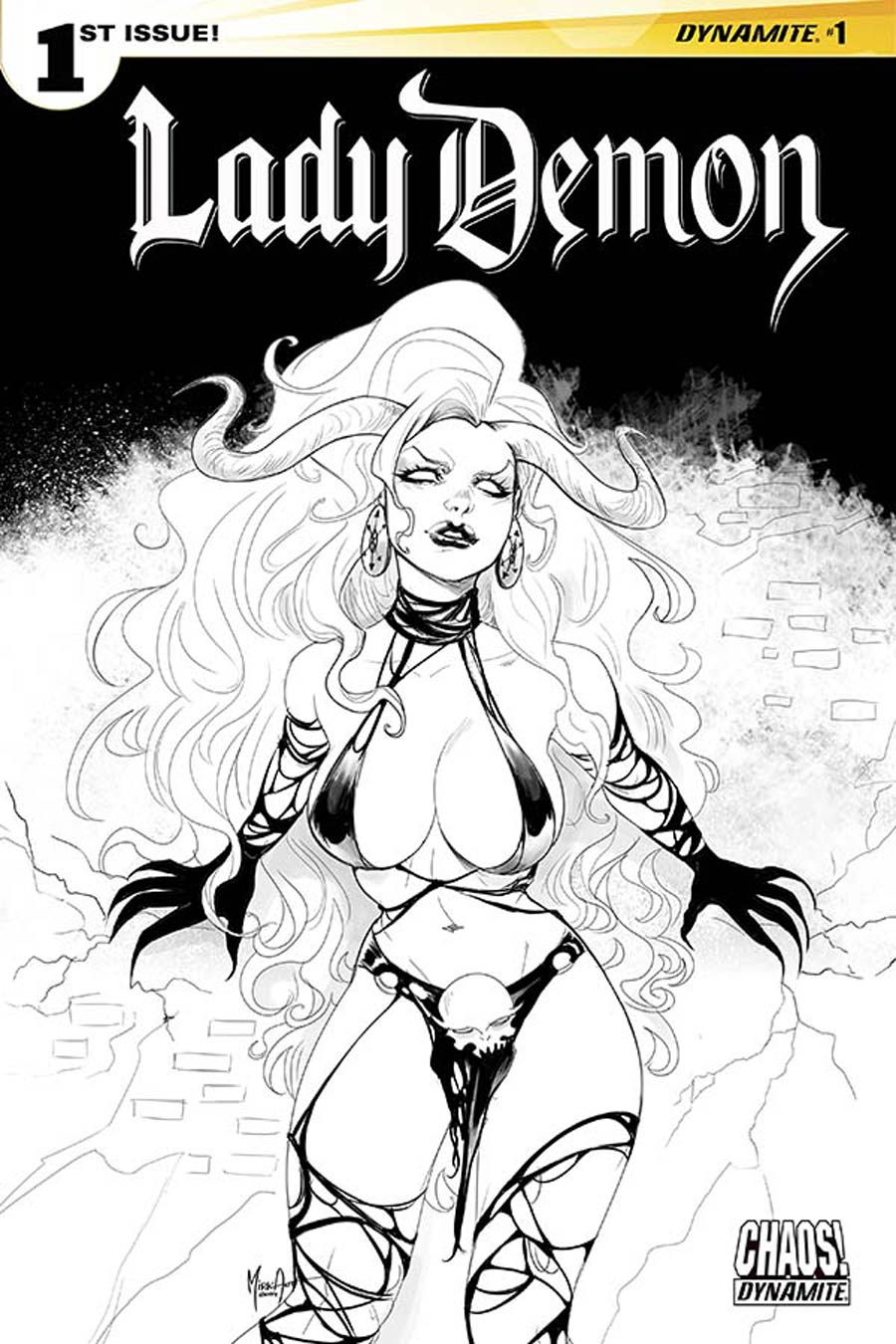 Lady Demon Vol 2 #1 Cover H Incentive Mirka Andolfo Black & White Cover