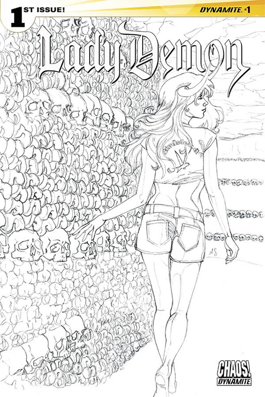 Lady Demon Vol 2 #1 Cover I Incentive Allison Sohn Black & White Cover