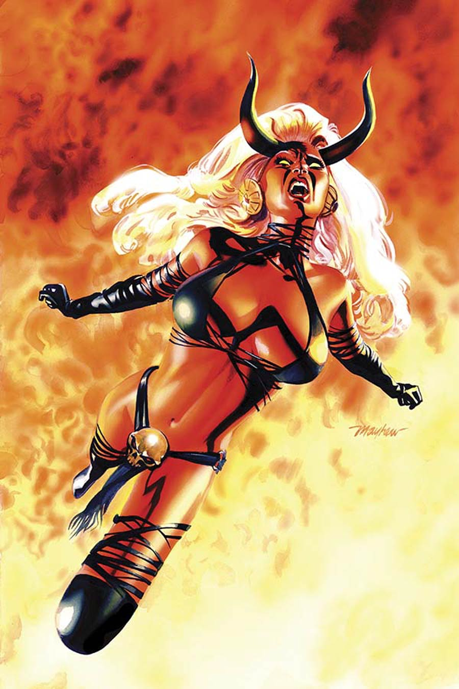 Lady Demon Vol 2 #1 Cover O Incentive Rare Mike Mayhew Virgin Cover
