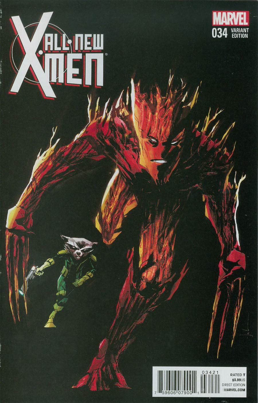 All-New X-Men #34 Cover B Variant Rocket Raccoon & Groot Cover