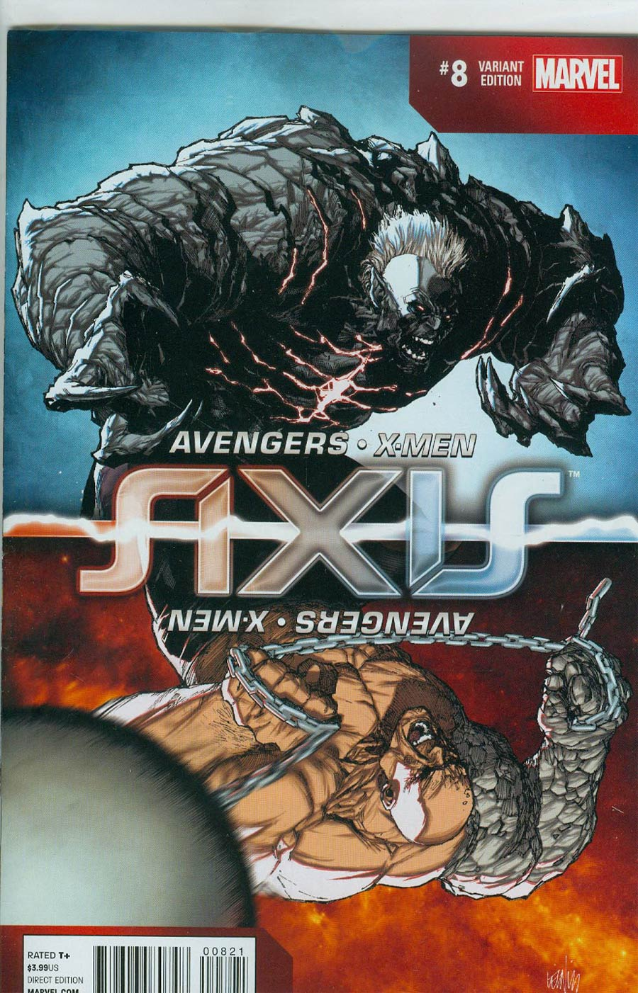 Avengers & X-Men AXIS #8 Cover C Incentive Leinil Francis Yu Inversion Variant Cover