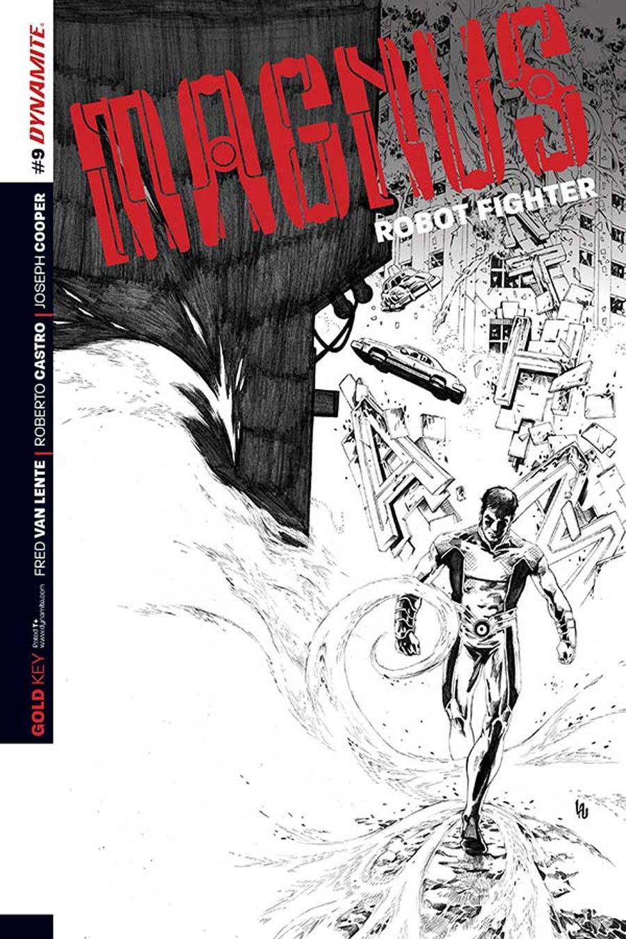 Magnus Robot Fighter Vol 4 #9 Cover C Incentive Jonathan Lau Black & White Cover