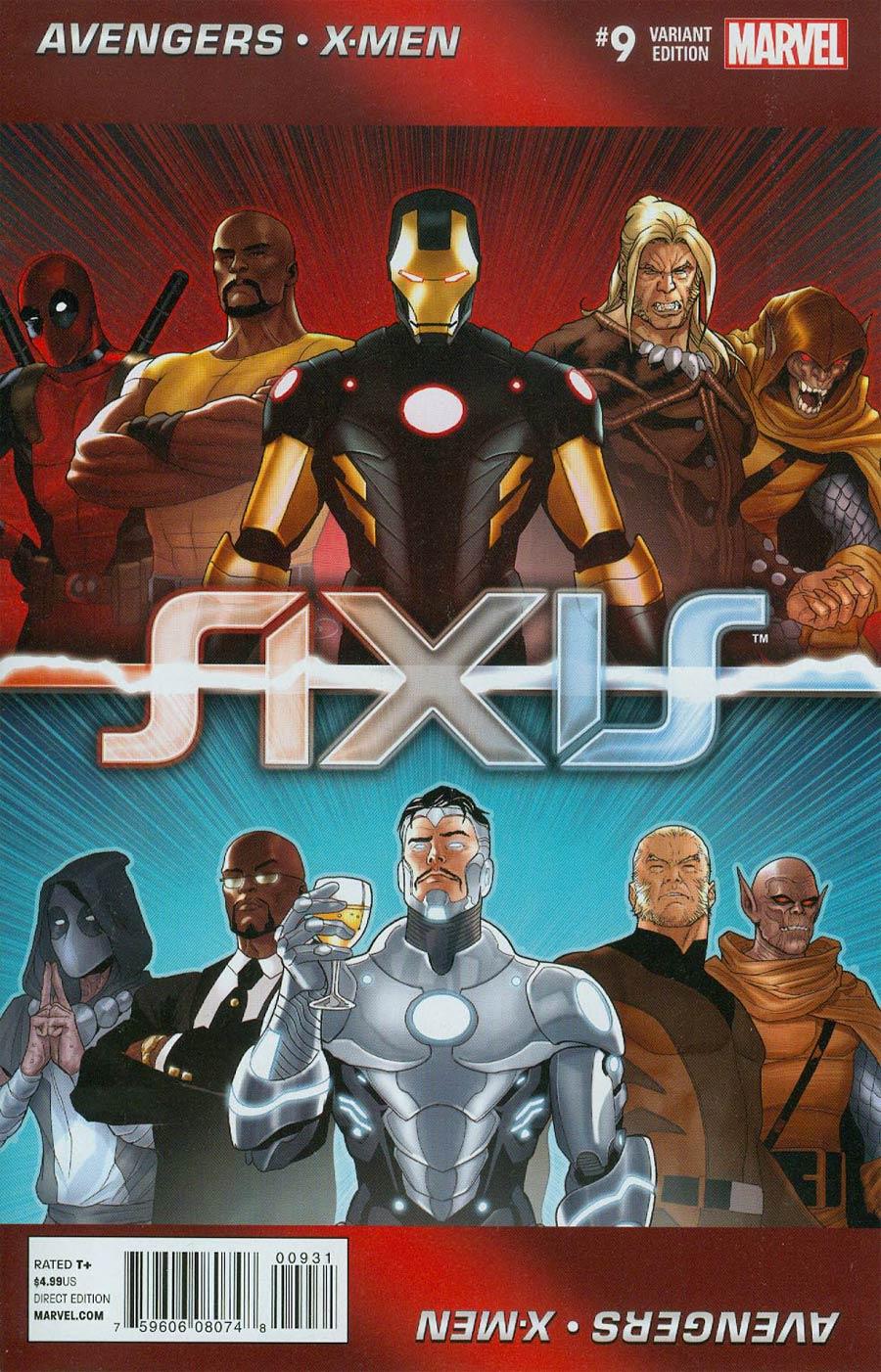 Avengers & X-Men AXIS #9 Cover B Incentive Paul Renaud Looper Variant Cover