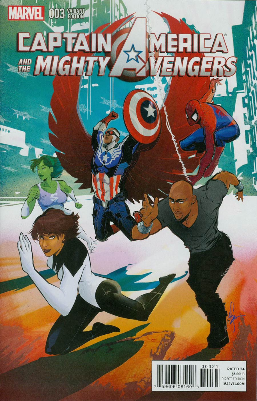 Captain America And The Mighty Avengers #3 Cover B Incentive Afua Richardson Variant Cover (AXIS Tie-In)