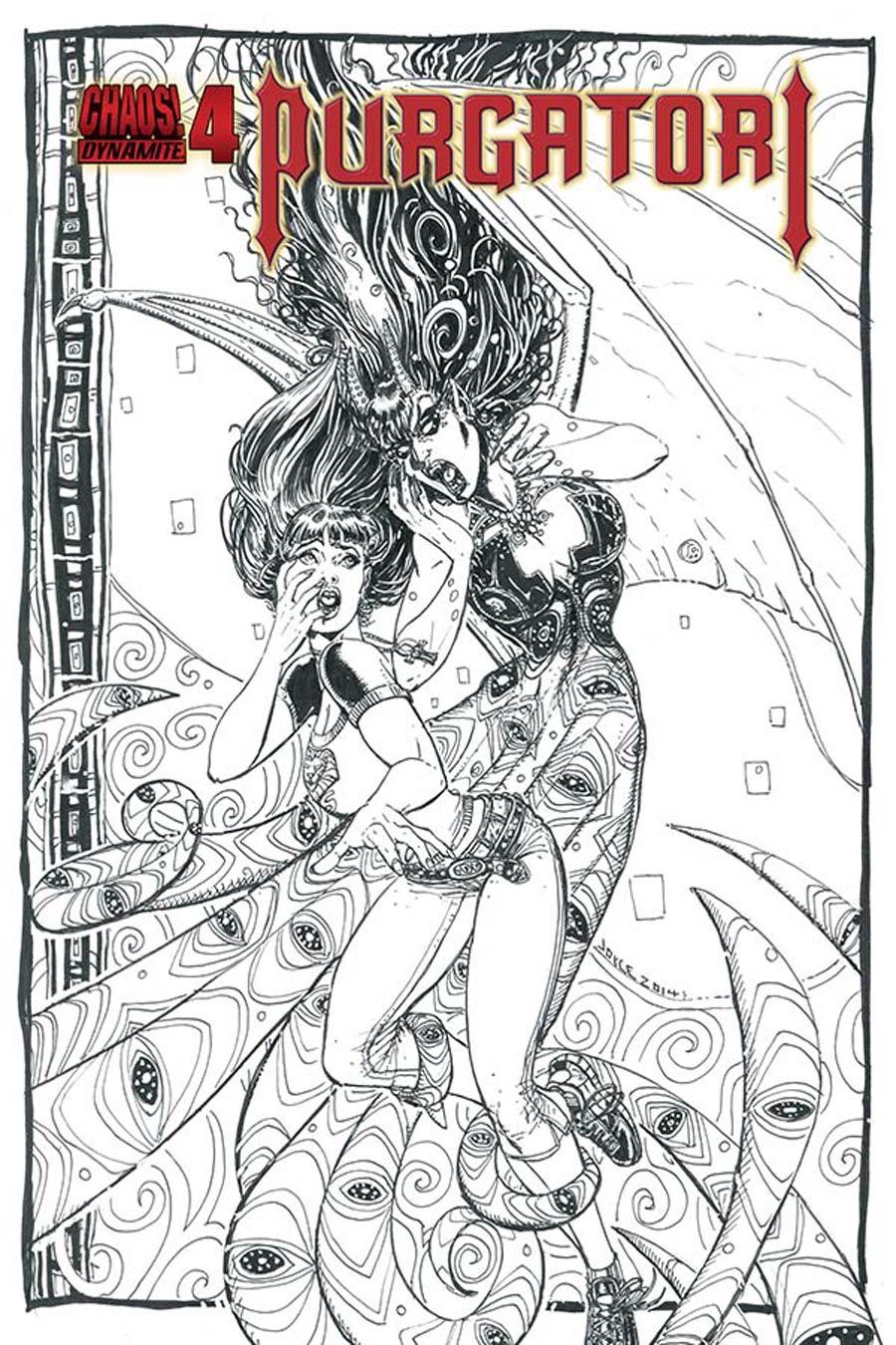 Purgatori Vol 3 #4 Cover E Incentive Joyce Chin Black & White Cover