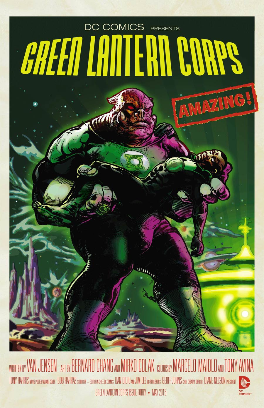 Green Lantern Corps Vol 3 #40 Cover B Variant Forbidden Planet WB Movie Poster Cover