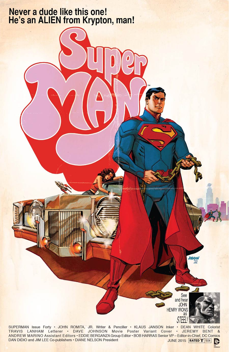 Superman Vol 4 #40 Cover B Variant Super Fly WB Movie Poster Cover
