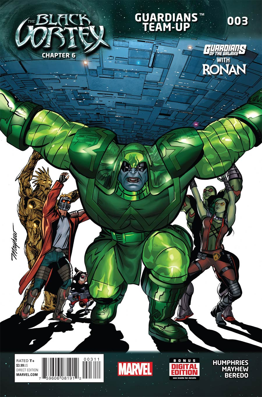 Guardians Team-Up #3 Cover A Regular Mike Mayhew Cover (Black Vortex Part 6)