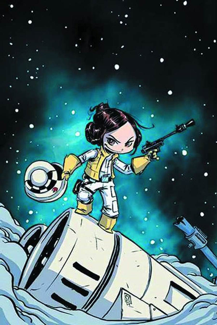 Princess Leia #1 Cover V DF Variant Skottie Young Baby Cover Signed By Skottie Young