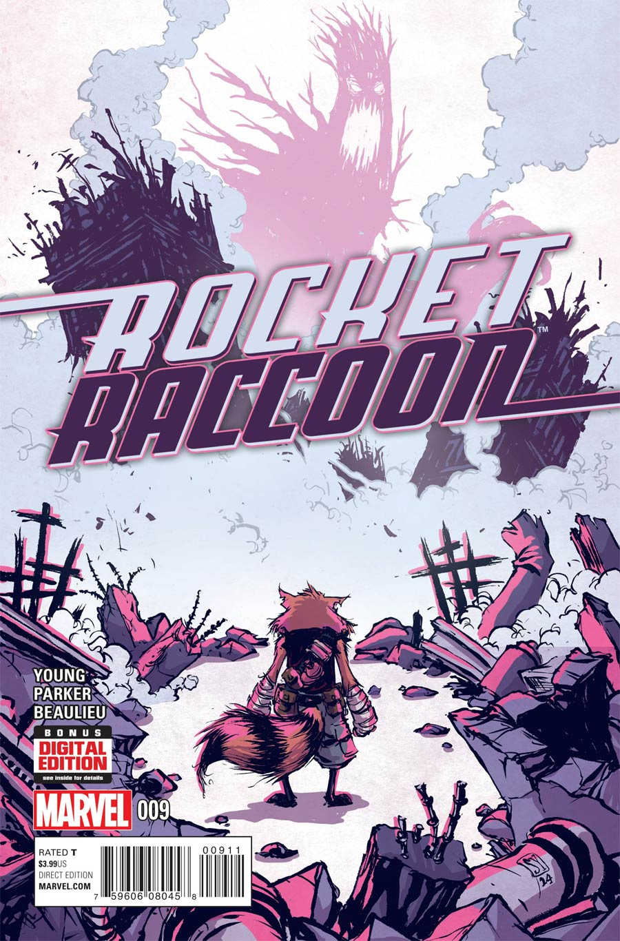 Rocket Raccoon Vol 2 #9 Cover A Regular Skottie Young Cover