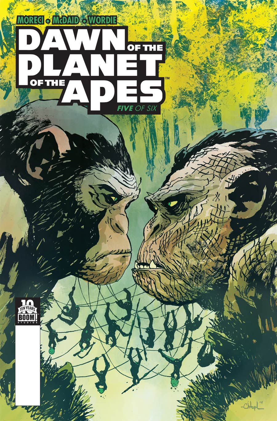 Dawn Of The Planet Of The Apes #5 Cover A Regular Christopher Mitten Cover