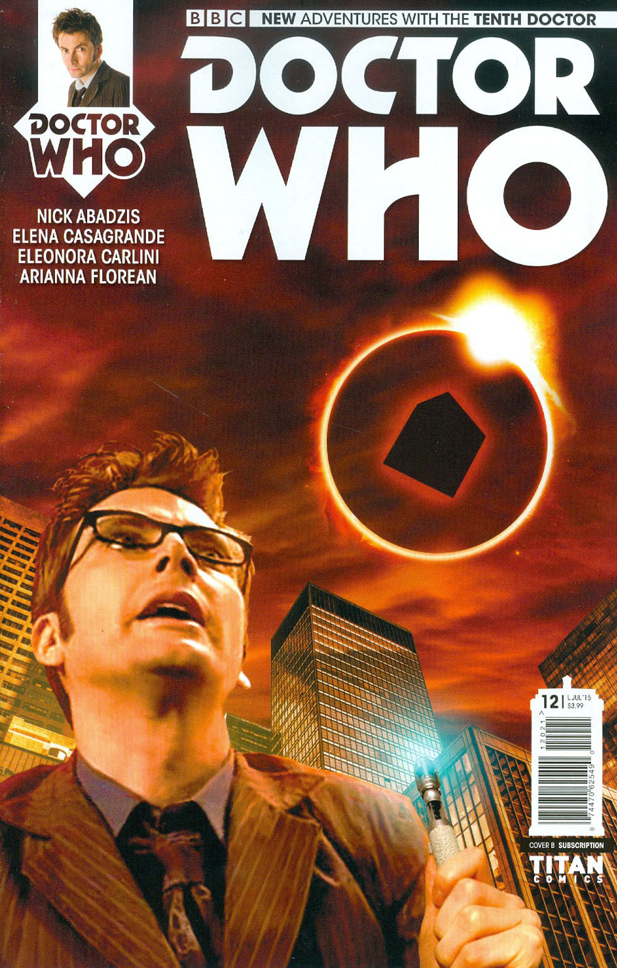 Doctor Who 10th Doctor #12 Cover B Variant Photo Subscription Cover