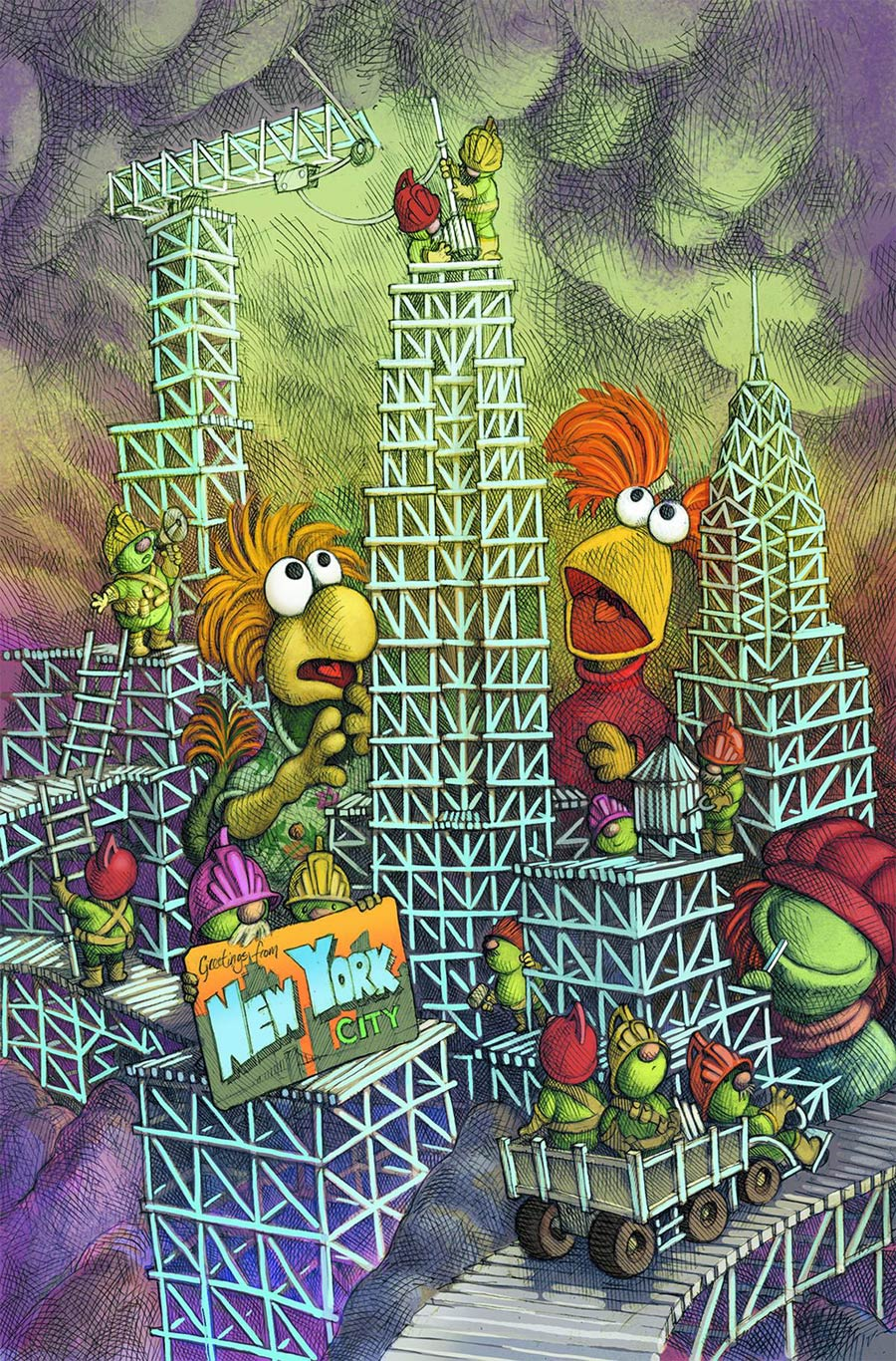 Fraggle Rock Journey To The Everspring #1 Cover C NYCC Exclusive Sean Rubin Variant Cover