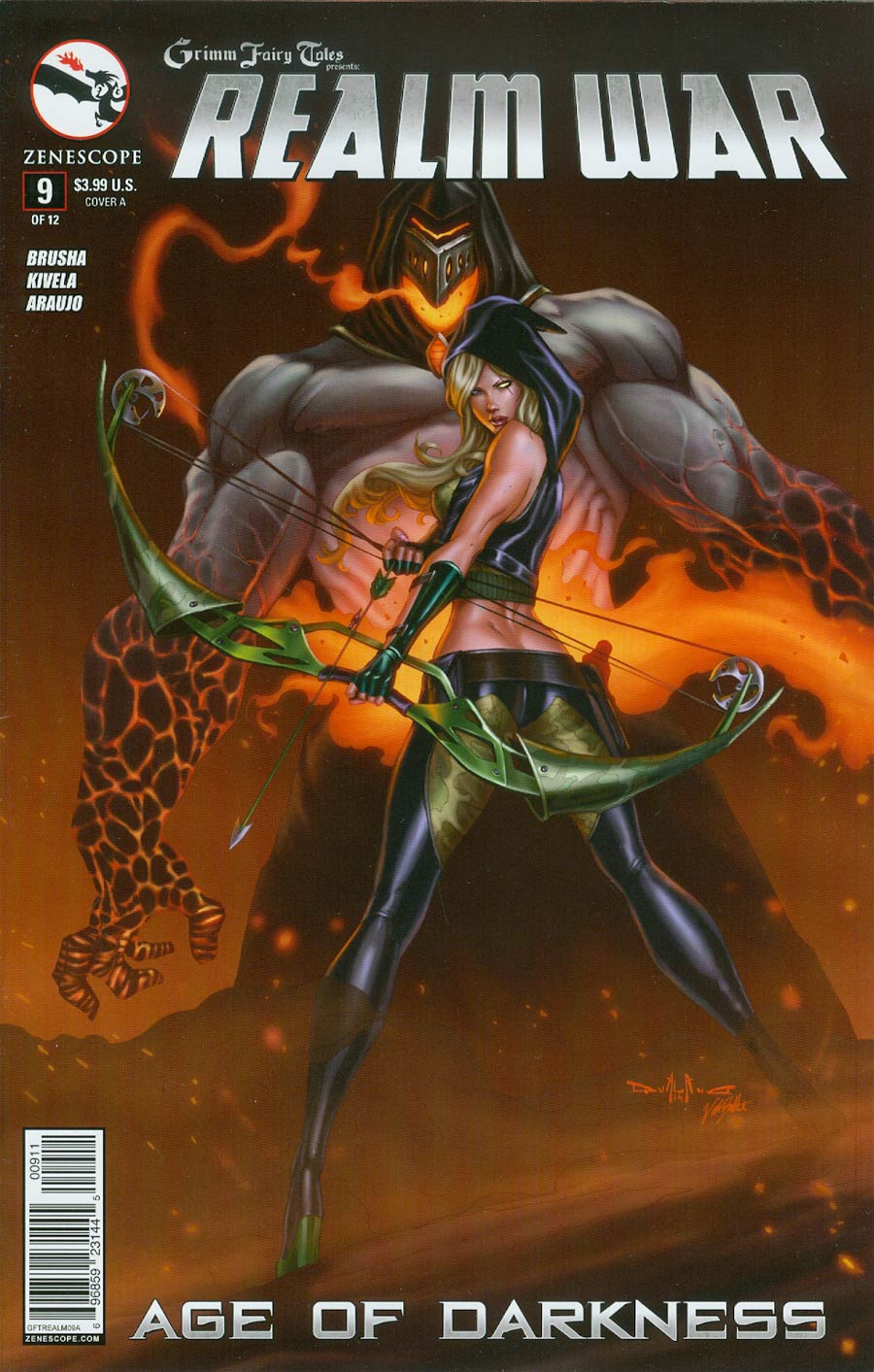 Grimm Fairy Tales Presents Realm War #9 Cover A Pasquale Qualano (Age Of Darkness Tie-In)