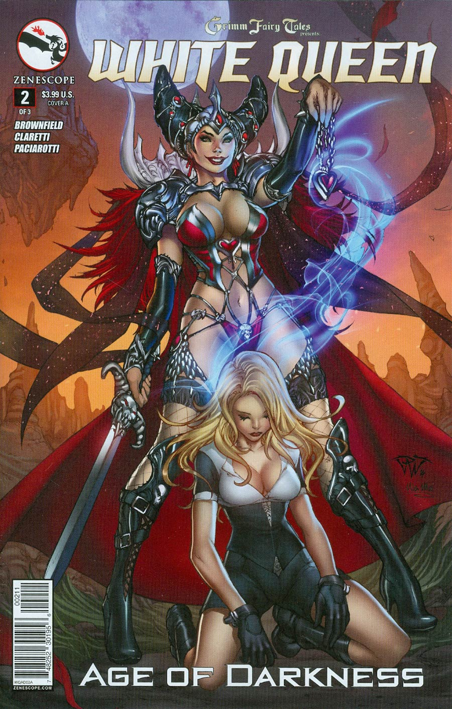 Grimm Fairy Tales Presents White Queen #2 Cover A Paolo Pantalena (Age Of Darkness Tie-In)