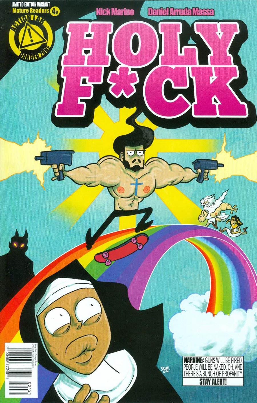 Holy F*ck #4 Cover B Variant Jesus On Rainbows Cover